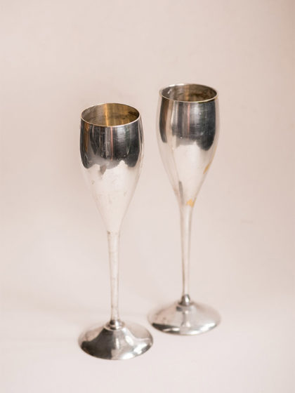 Посеребренные фужеры для шампанского