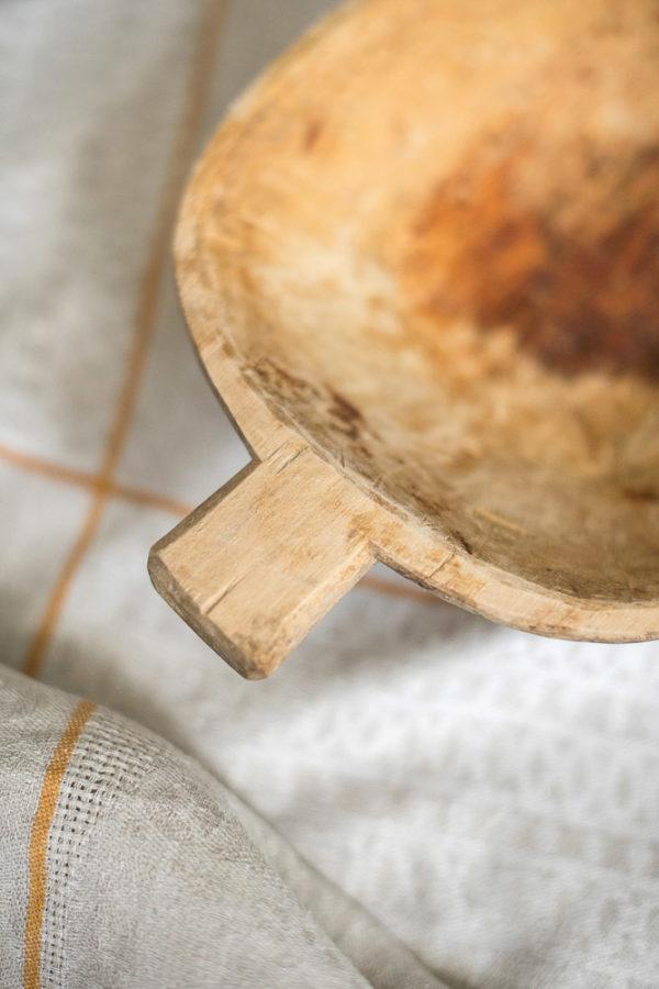Блюдо деревянное деревенское