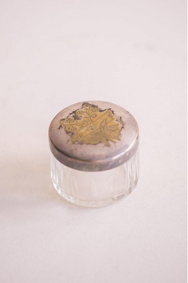 Шкатулка стеклянная круглая
