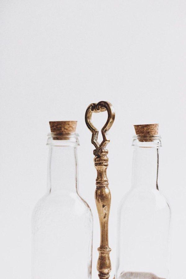 Подставка для масла и уксуса из бронзы