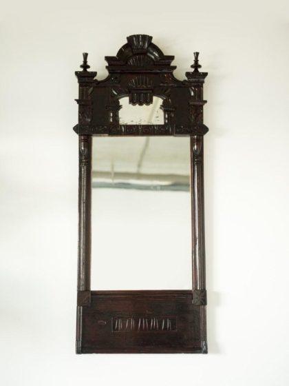 Деревенское зеркало в раме с двумя стеклами