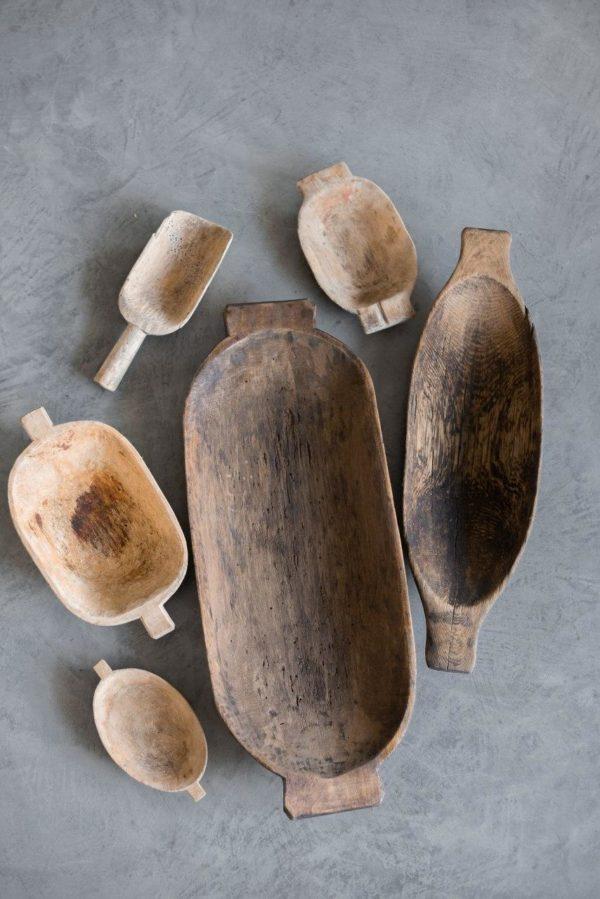 Большое блюдо деревянное деревенское