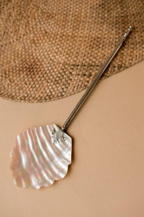 Ложка для икры с черпаком из натурального перламутра