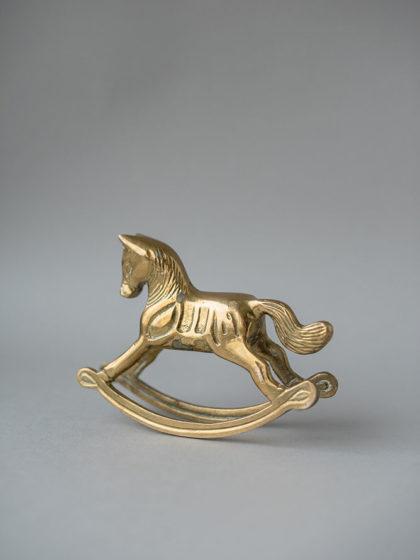 Бронзовая фигурка лошадки-качалки