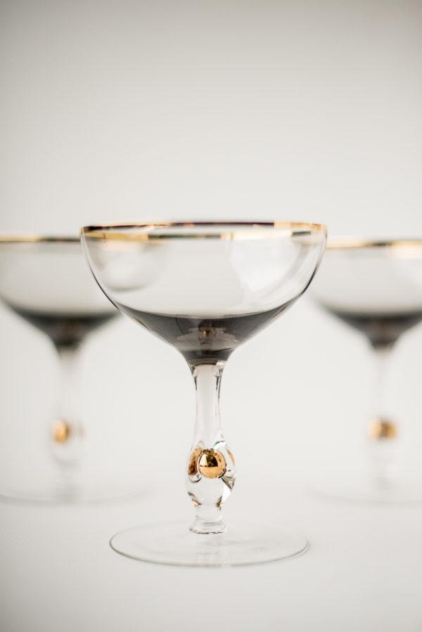 Хрустальные фужеры для шампанского Злата Сюзанна