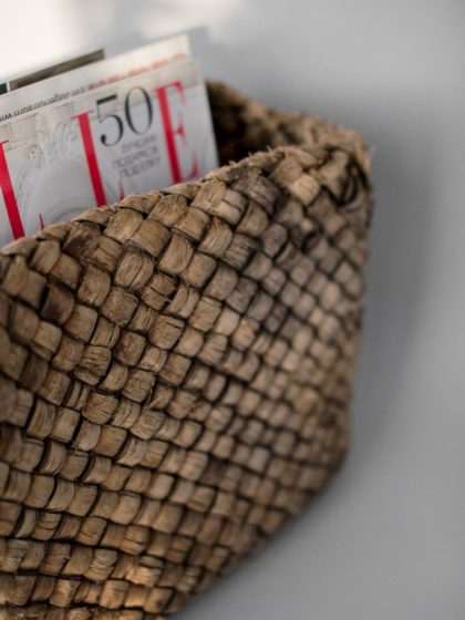 Корзина берестяная плетенная