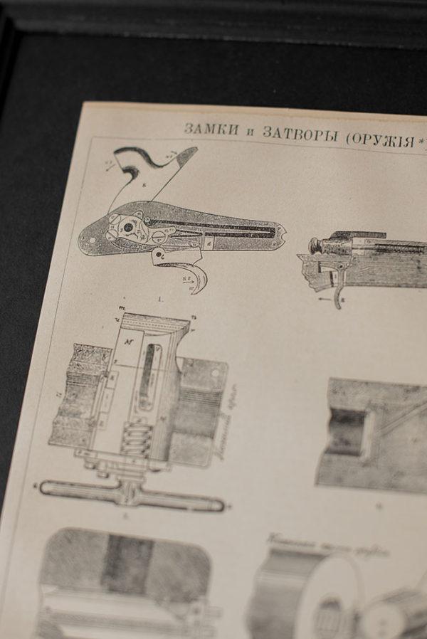 Гравюра Замки и затворы оружия