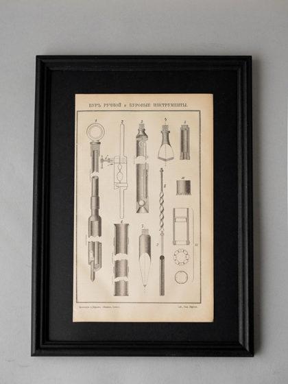 Гравюра Буровые инструменты III