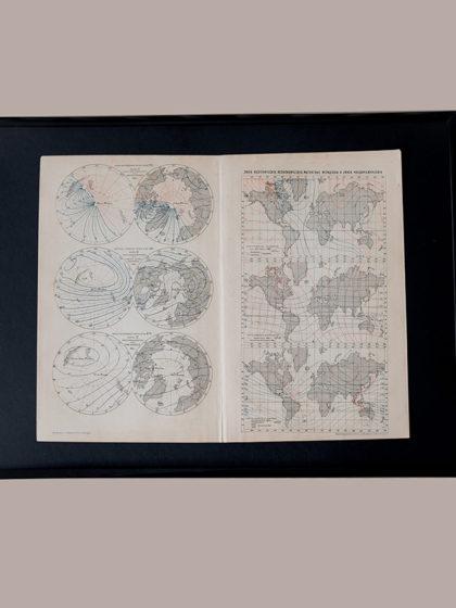 Гравюра Линии магнитного поля Земли