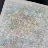 Гравюра историческая карта Германии
