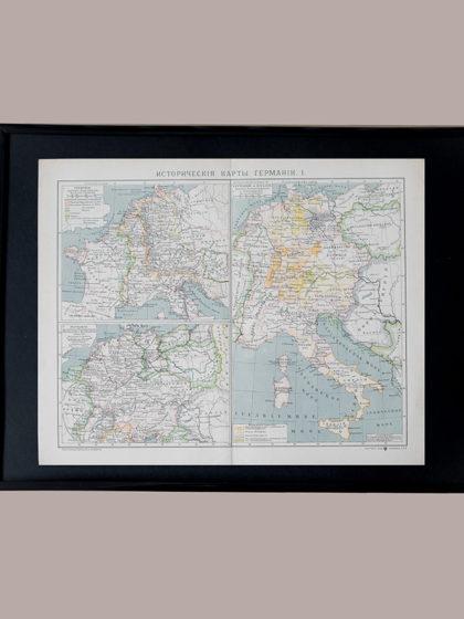 Гравюра Историческая карта Германии I