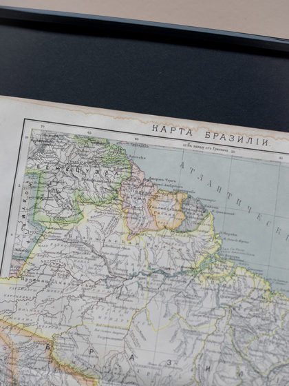 Гравюра Карта Бразилии