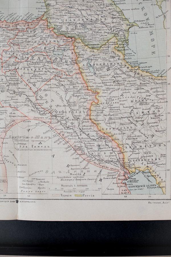 Гравюра Карта западной Азии I