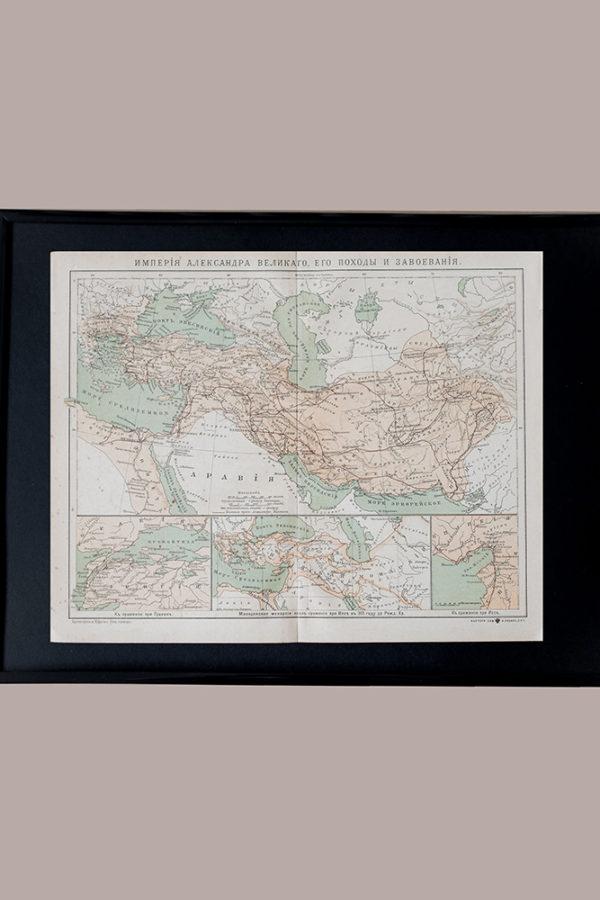 Гравюра Карта Империи Александра Великого