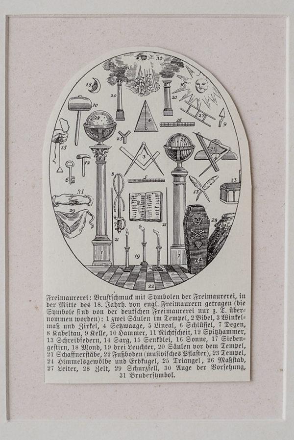 Гравюра Масонские символы