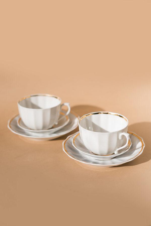 Чайные тройки из костяного фарфора Вербилки