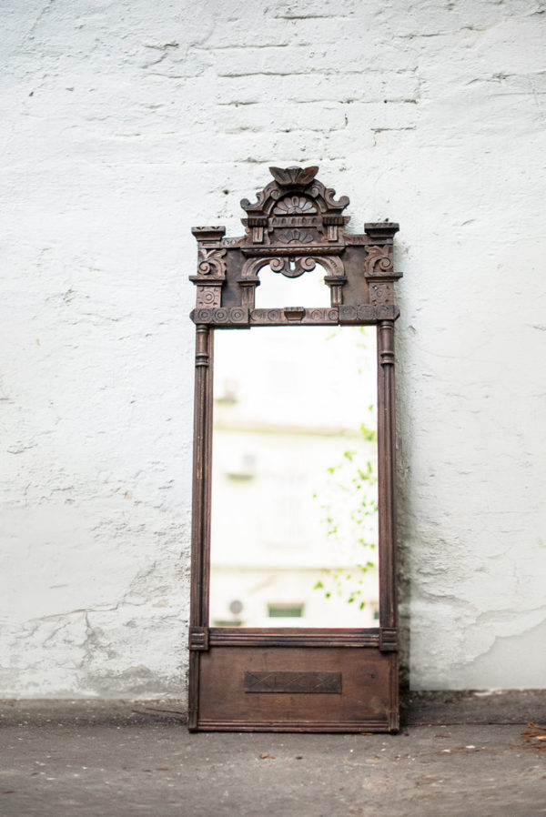 Старинное деревянное поморское зеркало