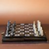 Дорожные шахматы с перламутром и рогом буйвола