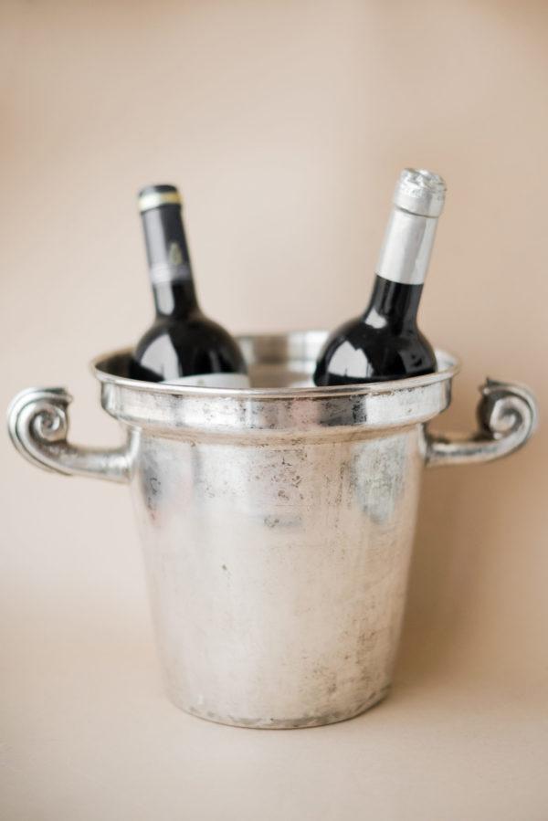 Мельхиоровое ведро для охлаждения шампанского