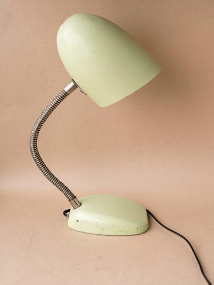 Лампа настольная СССР мятного цвета