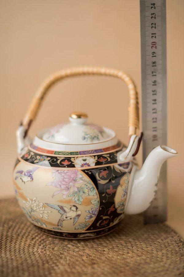 Японский чайный сервиз с литофанией портретом гейши