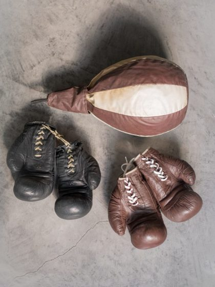 Ретро груша для бокса
