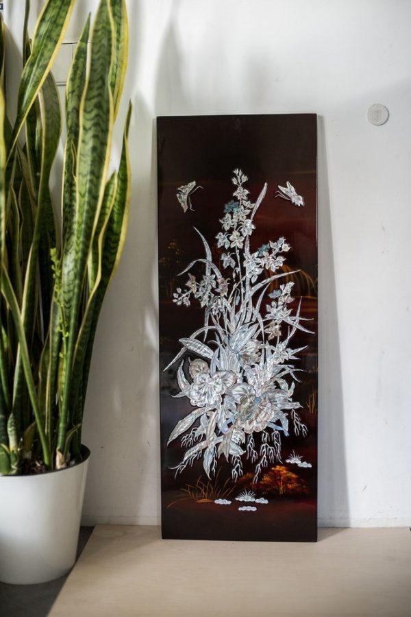 Лаковые деревянные картинны панно с перламутровой инкрустацией