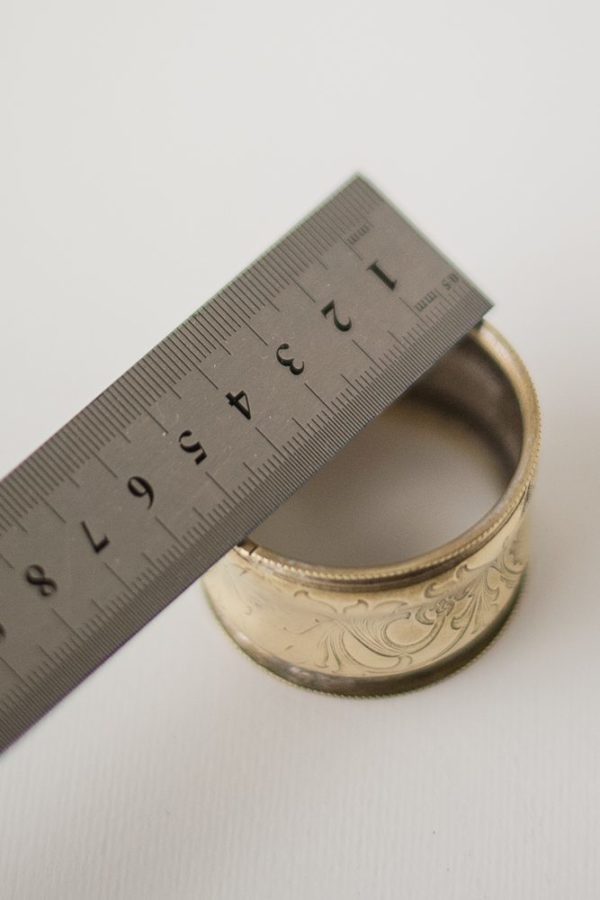 Кольцо для салфеток латунное с изображением