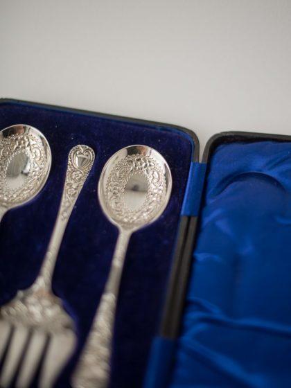 Английский набор для подачи закусок в футляре