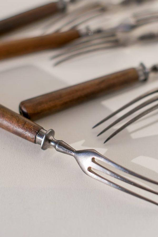 Клейменные трезубые вилки мастера Кондратова конца XIX века