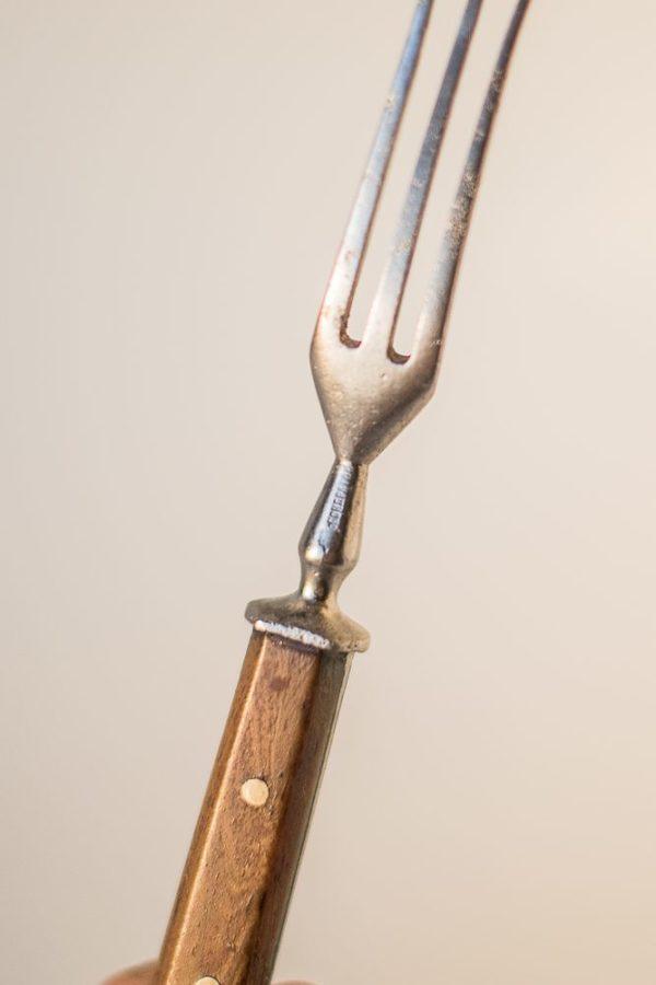 Трезубая вилка с клеймом мастера Кондратова XIX век